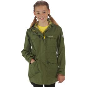 Regatta Treasure II Jacket Girls Waterproof cypress green